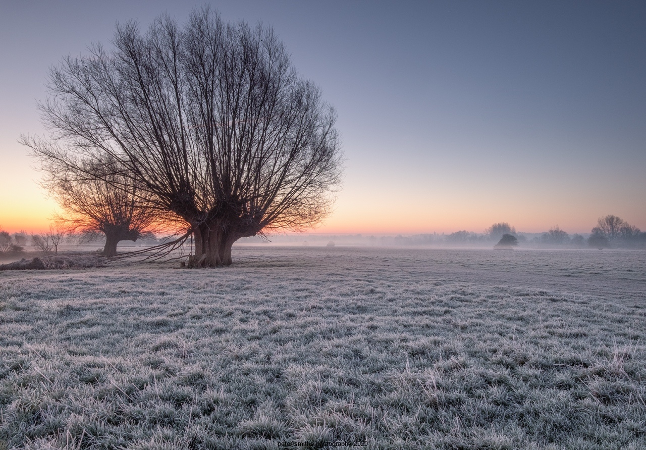 Flatford Sunrise January 2020 in frost
